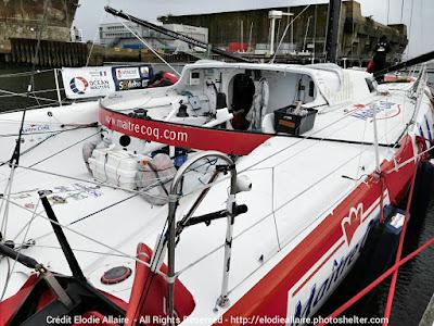 Maitre Coq de retour à Lorient après son Vendée Globe