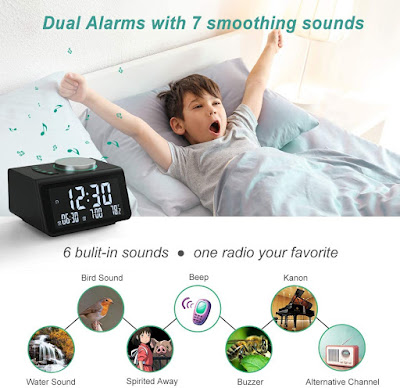 Small Digital Alarm Clock Radio