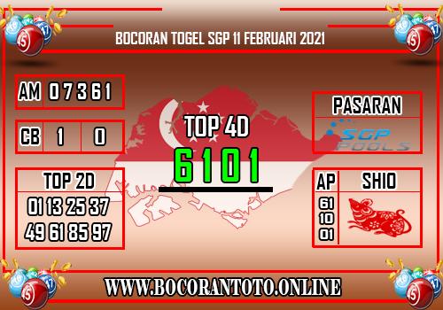 Bocoran SGP 11 Februari 2021