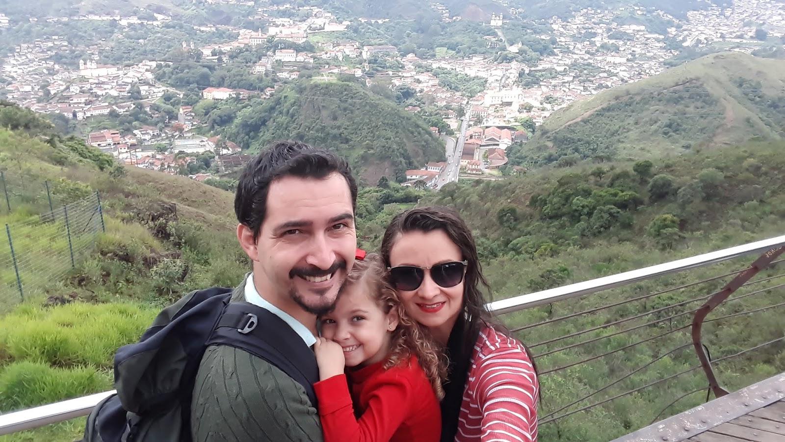 Vista para a cidade de Ouro Preto a partir do Mirante da UFOP