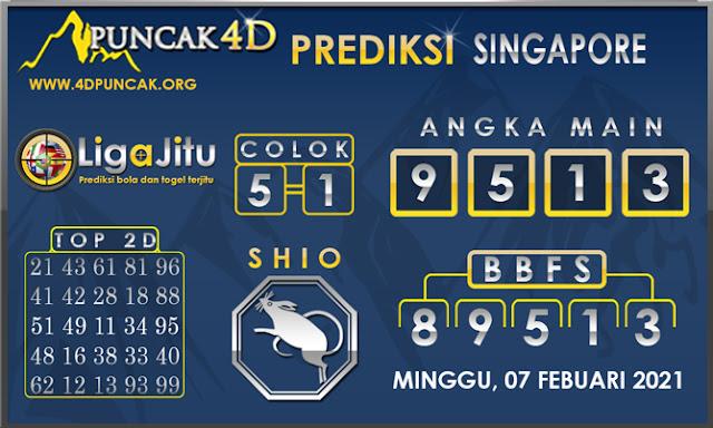 PREDIKSI TOGEL SINGAPORE PUNCAK4D 07 FEBUARI 2021