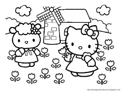 Gambar Mewarnai Hello Kitty (1)