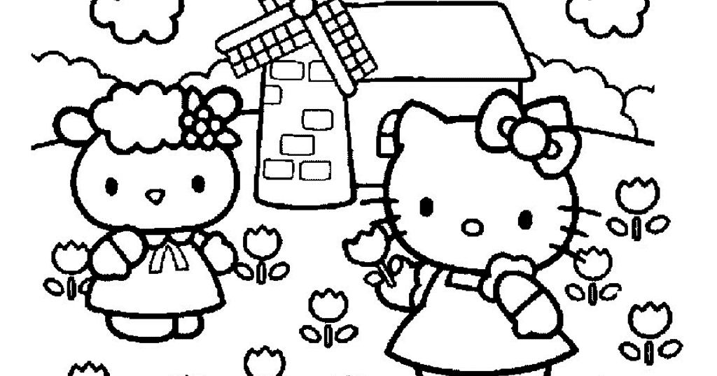 All About Hello Kitty Zoo Coloring Page Free Printable Coloring