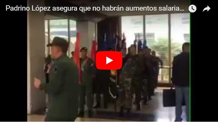 Padrino López asegura que no habrán aumentos salariales en las Fuerzas Armadas