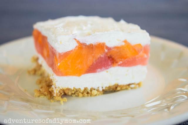 no bake peach dessert