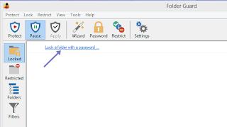 cara mengunci folder di windows dengan software