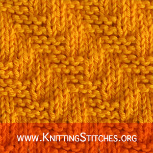 PATTERNS FOR KNITTED SQUARE: Diagonal Garter Stitch