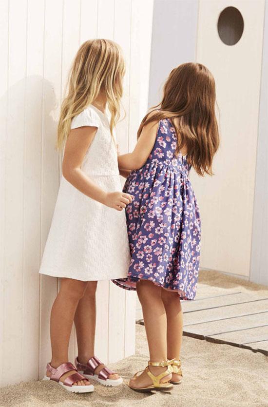 Vestidos para niñas de moda primavera verano 2018.