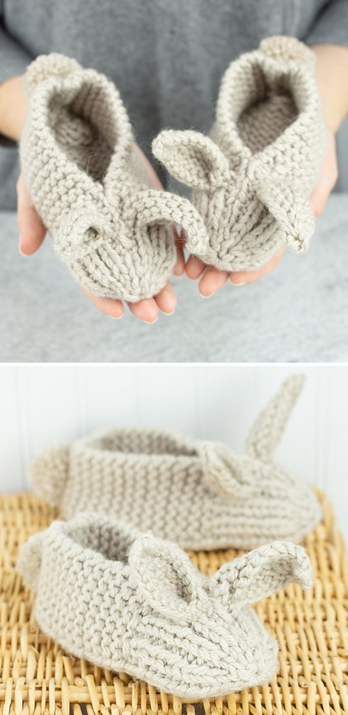 Family Bunny Slippers - Free Pattern