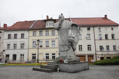 plac Jana Pawła II - pomnik papieża