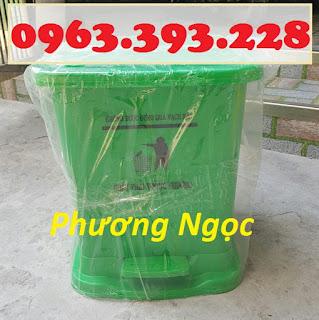 Thùng rác y tế đạp chân, thùng đựng rác thải bệnh viện, thùng rác nhựa HDPE