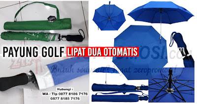 Payung Golf Lipat Silver Otomatis, payung golf lipat 2, Payung Golf Lipat Otomatis yang dapat di sablon logo perusahaan anda