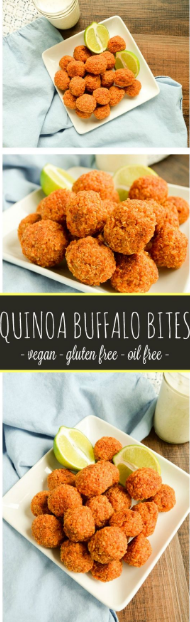 Quinoa Buffalo Bites – vegan and gluten free!