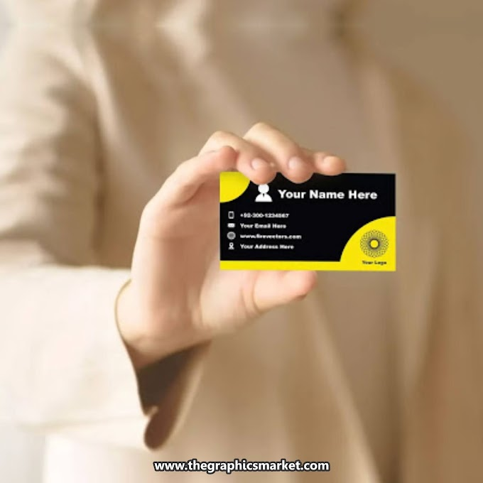 Businessman Holding Business Card PSD Mockup