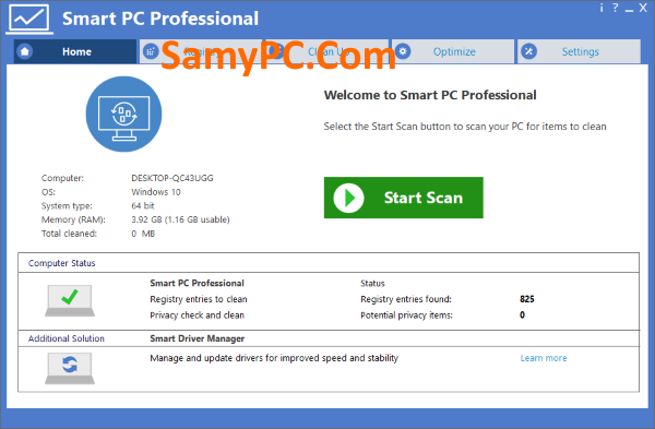 Smart PC Professional Free Download Full Latest Version