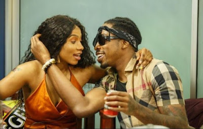 Fellow Big Brother Naija Housemates Ike And Mercy Are At It Again And This Time Both Fellow Housemates Were Caught Inside Toilet Having Sex With Mercy Exposing Her Boob's.