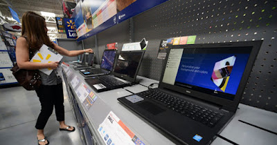 Low income customer shopping for electronics