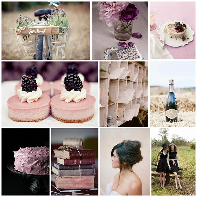 My Inspiration Board And Wedding Colors Burlap Black Blush