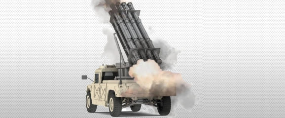 IMI C-Lynx multiple rocket launcher mounted on a Humvee tactical vehicle (фото: IMI Systems)