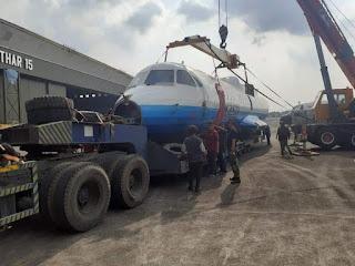 Naik Truck Trailer Jadi Akhir Perjalanan Pesawat N250 Gatotkaca Dari Bandung Menuju Jogja