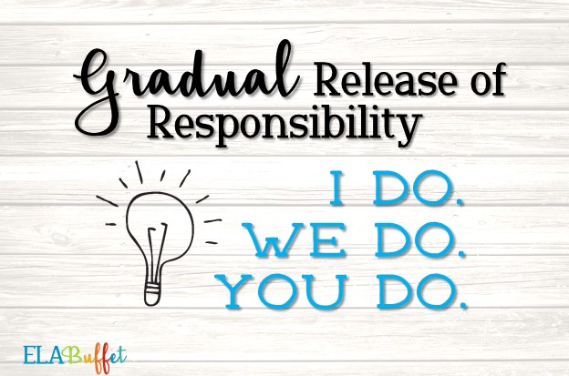 Gradual Release of Responsibility is a great way to promote learning.