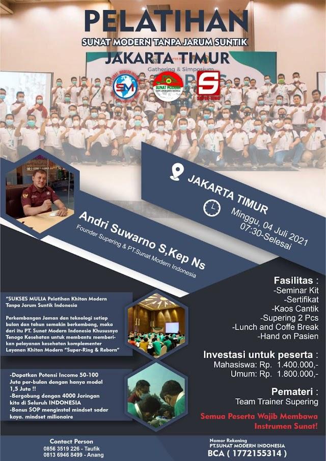Pelatihan Sunat Modern Tanpa Jarum Suntik Lokasi Jakarta Timur