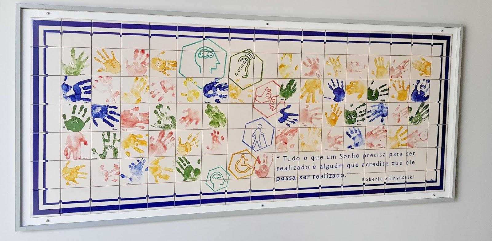 as mãos no Centro de Inclusão Social da Madeira