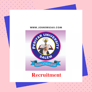 Periyar University Recruitment 2020 for Research Assistant