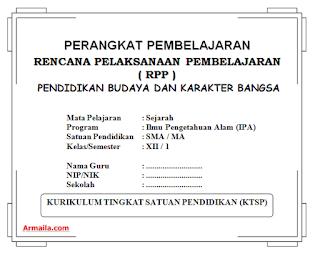 Download RPP KTSP Sejarah Kelas XII IPA SMA