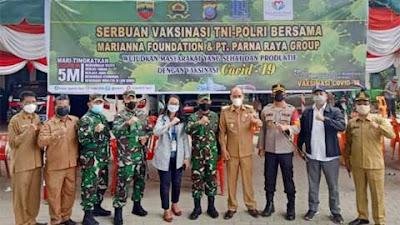Kodam I/BB Bersama Polda Sumut Gelar Serbuan Vaksinasi di Kabupaten Samosir
