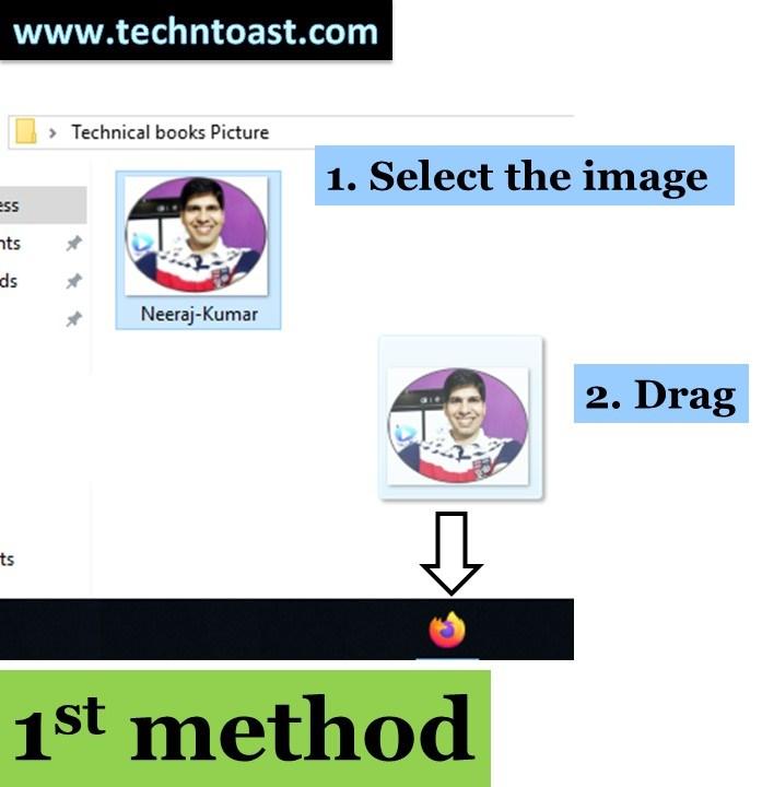 Drag and drop an image