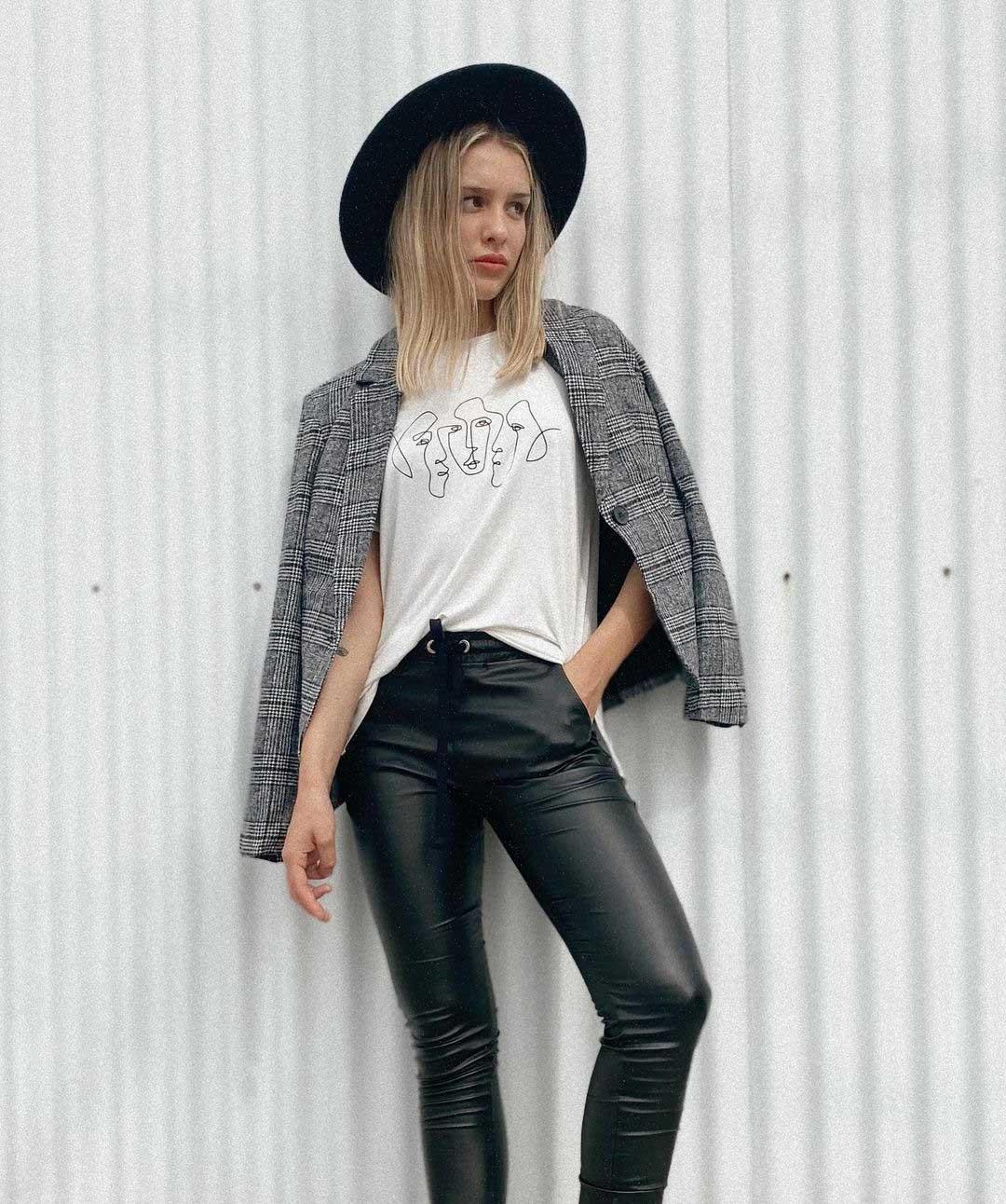 pantalones engomados moda invierno 2021