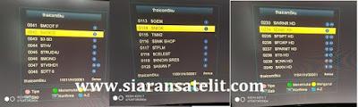 Transponder Terkuat dan Chanel Lengkap Thaicom 5/6/8 Ku Band Terbaru