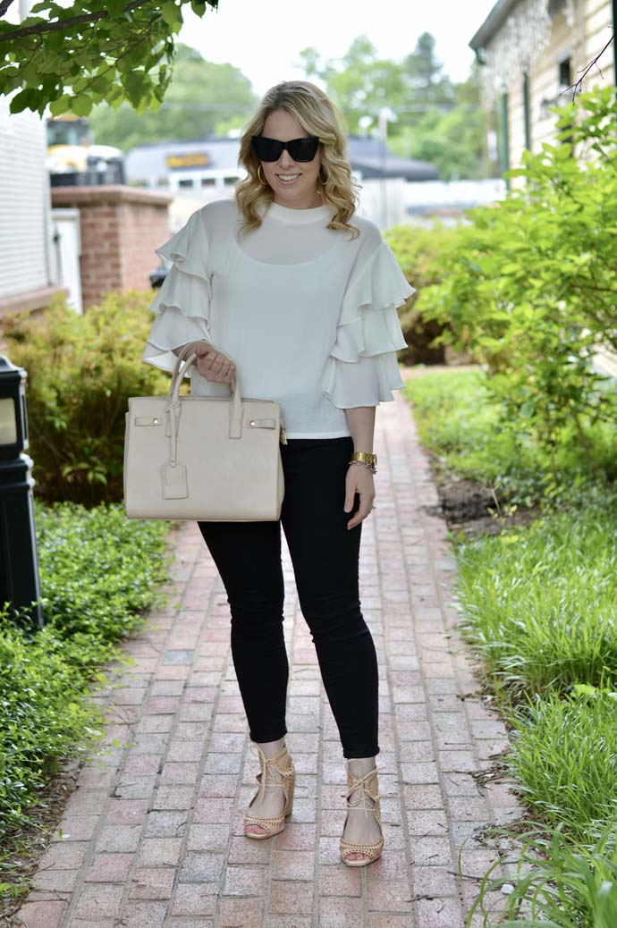 Black and White Spring Outfit Idea
