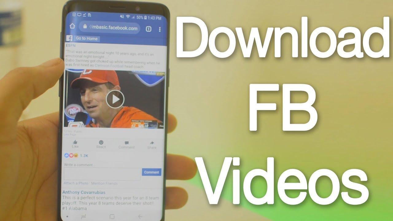 كيفية تحميل فيديوهات الفيسبوك على أندرويد وأيفون  برنامج حفظ الفيديو من الفيس بوك كيفية حفظ الفيديو من الفيس بوك على الموبايل برنامج تحميل الفيديو من الفيس بوك للايفون كيفية تنزيل الفيديو من الفيس بوك على الموبايل بدون برامج تحميل فيديو من الفيس بوك للايفون 2020 كيفية تحميل فيديو من الفيس بوك للاندرويد برنامج تحميل فيديوهات من الفيس واليوتيوب للايفون كيف انشر فيديو على الفيس بوك من الموبايل