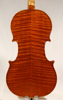 Copy of a Stradivarius Violin Backplate by Nicolas Bonet Luthier - Fond d'un violon en copie de Antonio Stradivari