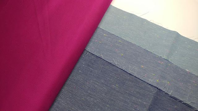 Chambray fabrics for a star quilt