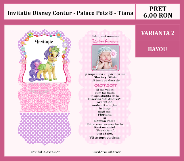 invitatii botez contur Palace Pets 8