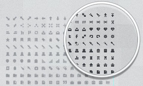 A set of 285+ hand drawn 12x12 pixel icons