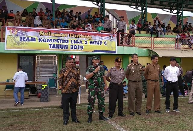 Dandim 0307/TD, Letkol. Inf. Edi S Harahap Buka Kompetisi Liga 3 Group C