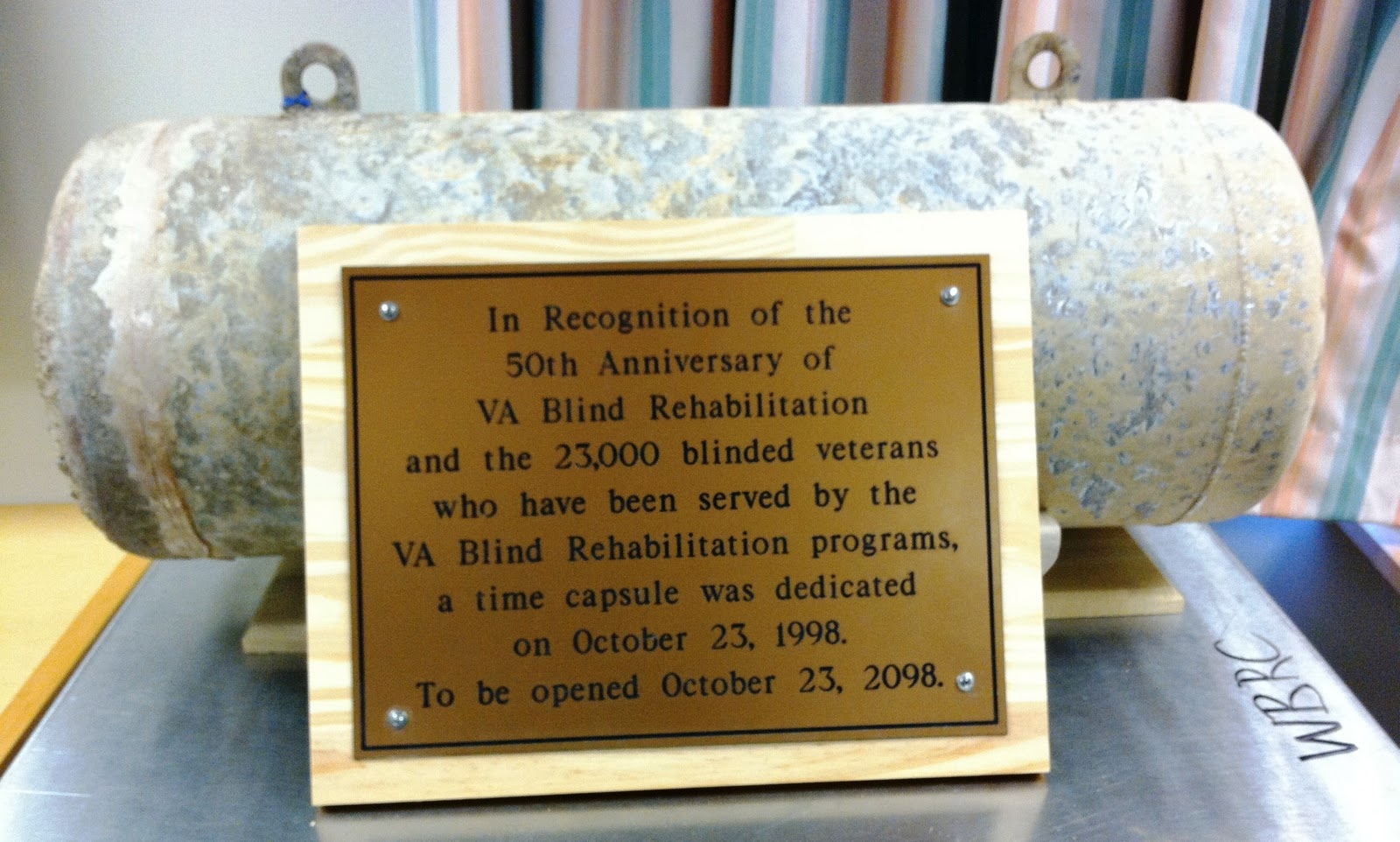 Western Blind Rehabilitation Center: WBRC Digs Up 1998 Time