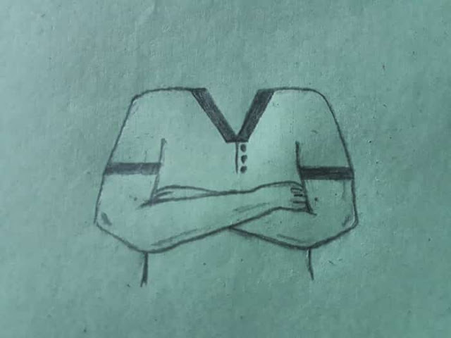 How to Draw Crossed Arms 5 step