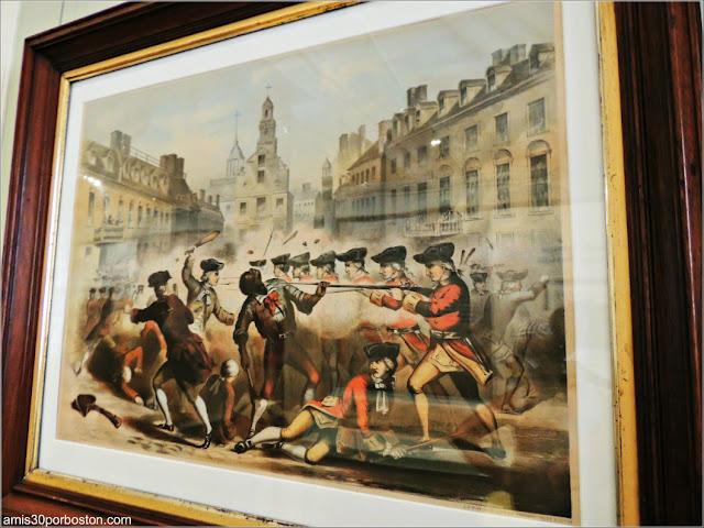 Masacre de Boston Paul Revere en el Old State House de Boston
