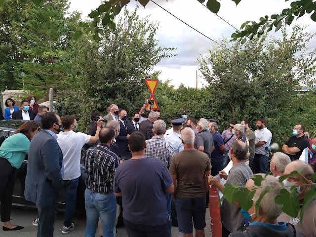 Αγροτικό συλλαλητήριο στο Μυστρά - Θερμή υποδοχή Βορίδη από αγρότες