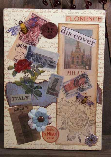 Italy Altered Art Canvas