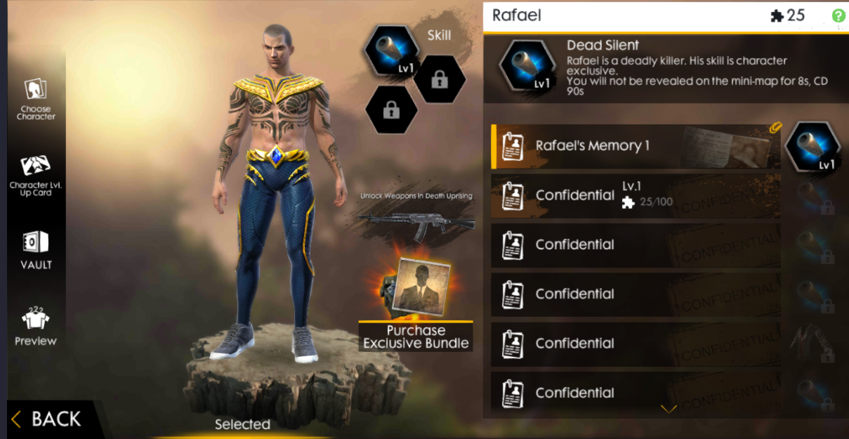 Bahas Karakter Terbaru Rafael Free Fire Advance Server