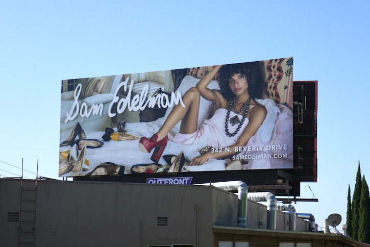 Sam Edelman shoes FW19 billboard