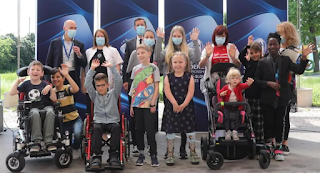 Football Association of Slovenia (NZS) – joint hosts with Hungary  donated 84 bicycles to help disabled children