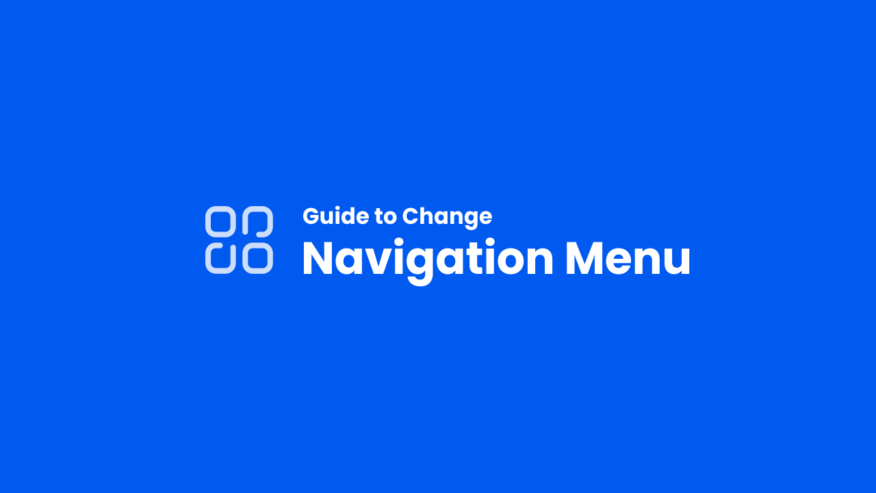 Guide Change Navigation Menu