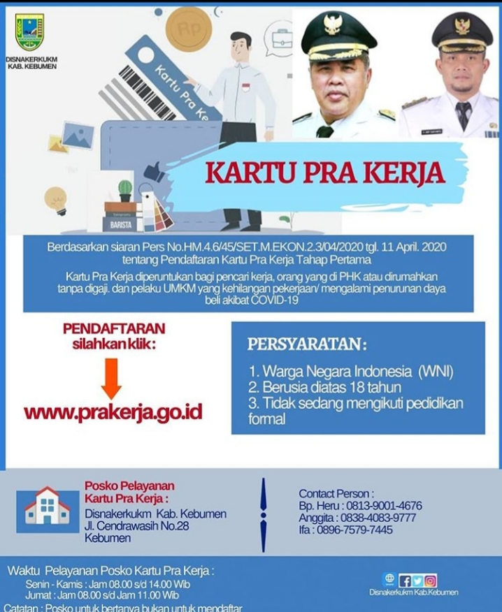 Pendaftaran Kartu Prakerja Lewat Prakerja.go.id